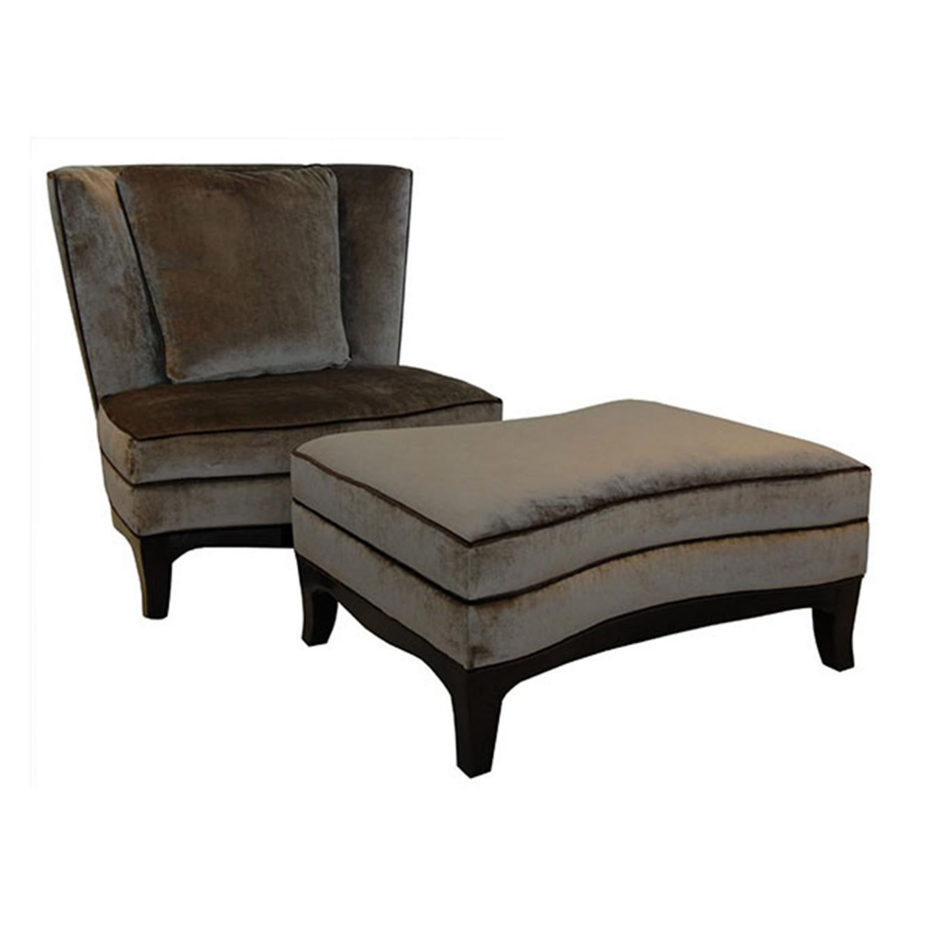 House Haven Occasional Chairs 0004 Geneva Chair w Ottomon
