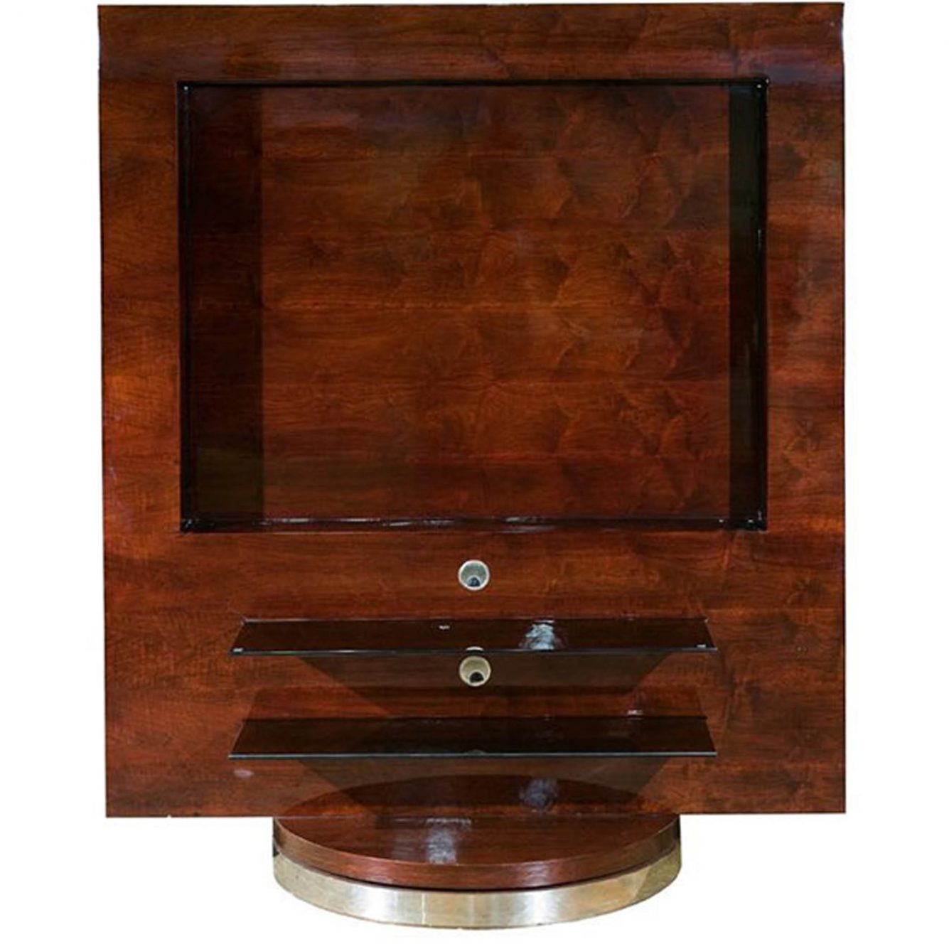 House Haven Tv Units 0004 Mahogany Plasma Swivel Unit